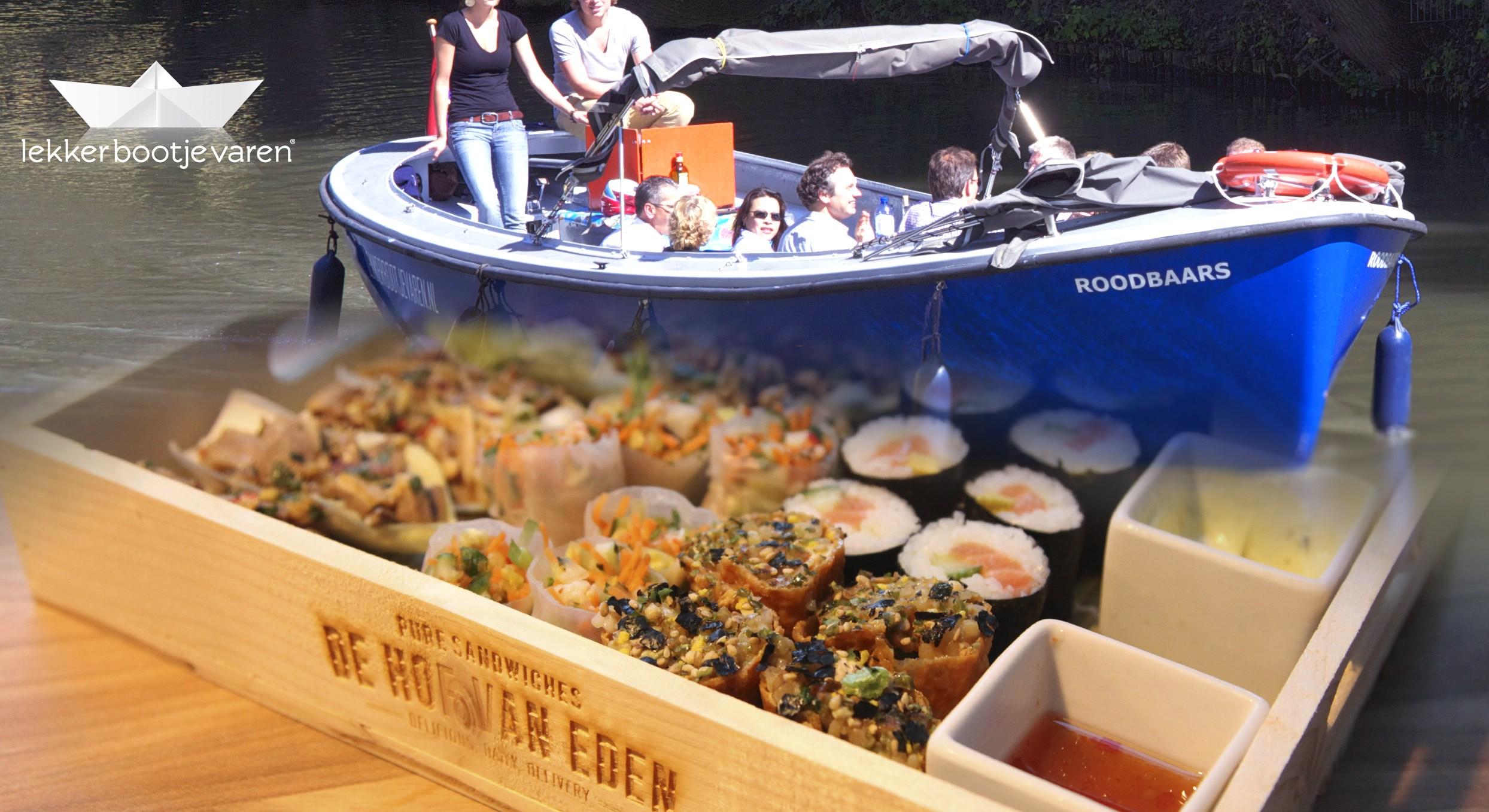 Bbq Boot Utrecht.Sushi Boot In Utrecht Bij Lekkerbootjevaren
